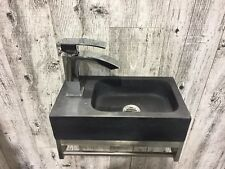 Black Limestone Vessel Sink -Kala
