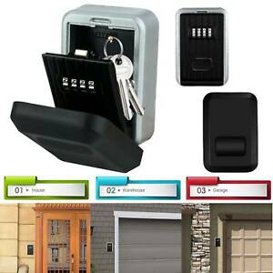High Security 4 Digit Key Safe Box Code Lock Double Storage Outdoor Wall Mounted