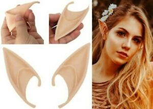 Elf Ears Pointed Rubber Latex Prosthetic Tips Angel Pixie Fairy Adults Children
