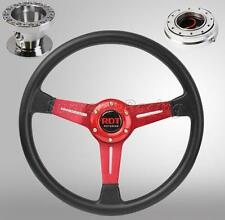 Red Steering Wheel Hub Quick Release Chrome Combo For Civic 92-95 Integra 94-01