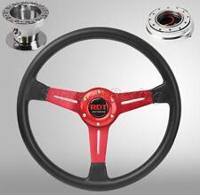 Red Steering Wheel Hub Quick Release PO Combo For Toyota Celica Corolla Cressida