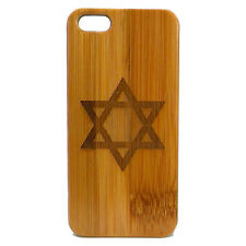 Star of David Case for iPhone 6S Plus iPhone 6 Plus Bamboo Wood Cover Hanukkah
