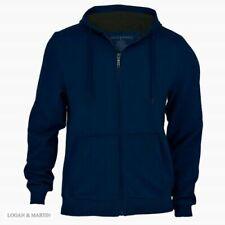 Logan & Martin Fleece Zip Up Jacket - Navy - Men's - M