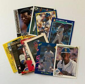 Ken Griffey Jr 16 card lot, 1990 Upper Deck 2nd year, inserts, Mariners Reds