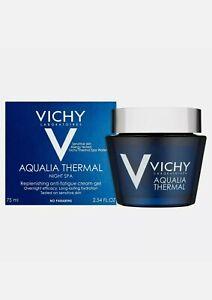 VICHY AQUALIA THERMAL NIGHT SPA CREAM-GEL #75 ML without box new