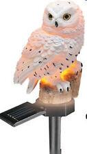 Garden Yard planter Outdoor Winter Christmas Bird Owl Owls Solar Light Stake