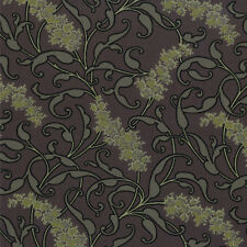 CIVIL WAR JUBILEE Green  yellow flora 8254 14 Barbara Brackman MODA 1/2 YARD