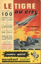 Bob Morane EO L'OEIL D'ÉMERAUDE Henri VERNES Marabout Junior 100 1957 Inédit