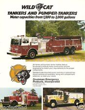 Fire Equipment Brochure - Grumman - Wild Cat - Pumper Tanker - 2 items (DB90)