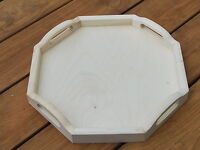 Wooden Serving Octagonal Tray 33cmx33cmx 4cm Decoupage