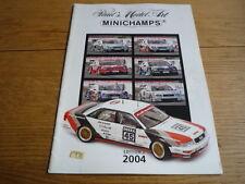 Minichamps edition 2 mise à jour Catalogue Brochure Livre 2004