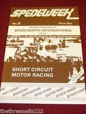 SPEDEWEEK - SHORT CIRCUIT MOTOR RACING - MARCH 1981 # 9