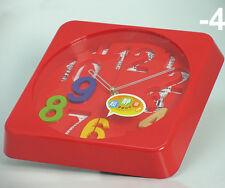 Wanduhr 3 D Design 32,5 cm Modern 2099 rot