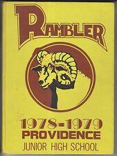 1978-1979 YEARBOOK - RAMBLER - PROVIDENCE JUNIOR HIGH SCHOOL - RICHMOND VIRGINIA