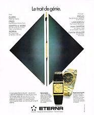 PUBLICITE ADVERTISING   1979   ETERNA   collection  montres quartz