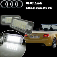 2x For Audi A3 A4 B6 A6 Q7 Error Free White LED License Number Plate Lights Lamp