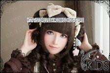 Lolita party cosplay wig Dark brown color 2 curly wig clip