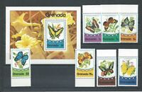 Grenada - 1976 Butterflies - Un-mounted mint set & Miniature Sheet