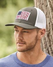 PFG Fish Flag Mesh Flexfit Ball Cap - 183681 3 Colors S/M L/XL