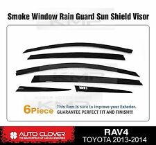 Smoke Window Sun Vent Visor Rain Guards 6P D754 For TOYOTA 2013-2015 2016 RAV4