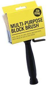 Job Done Multi Purpose Block Wallpaper Paste Brush Paints Fence Wood (JBBB001)