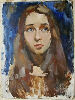 Russian Ukrainian Oil Painting Impressionism female portrait girl young woman
