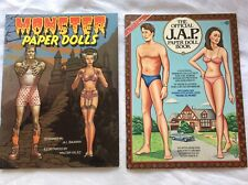 The Official J.A.P. paper doll book & Monster Paper Dolls Book  NEW UNUSED UNCUT
