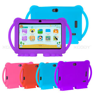 """Newest Case For 7"""" Inch Android Tablet PC T702 Silicone Stand Handle Case Cover"""