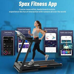 Electric Treadmill Hydraulic Folding Motorized Running Machine APP & Bluetooth