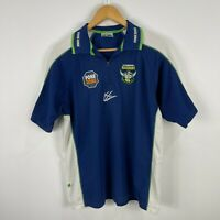 Canberra Raiders Rugby Polo Shirt Mens Size Medium ISC Retro Short Sleeve