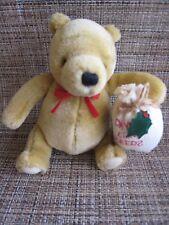 DISNEY GUND CHRISTMAS CLASSIC WINNIE THE POOH  PLUSH TEDDY BEAR