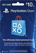 $10 US PlayStation Network Store PSN Gift Card