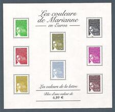 BLOC FEUILLET N°67 - Les Marianne en Euros