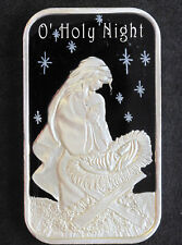 2010 Silver Towne O Holy Night Enamel Silver Art Bar P1550