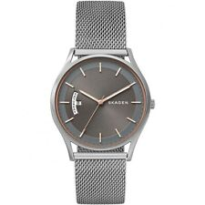 Skagen Gents Holst Silver Stainless Steel Mesh Bracelet SKW6396 Mens Watch