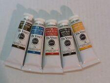 Da Vinci Oil Professional Quality Paints 5 Assorted Colors 40.6 ml