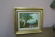 "Vintage Oil on Canvas Painting Signed Deruce Framed 8"" x 10"" - 13"" x 15"""
