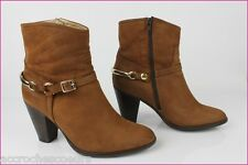 Bottines Boots SAN MARINA Cuir Peau Marron T 39 TBE
