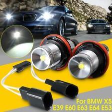 BMW 745 750 LIGHT LAMP HALO RING ANGEL EYE SIDE MARKER LED BULBS 7000K 20W 800LM