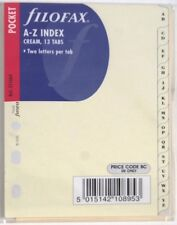 Filofax Einlage Pocket: Register A-Z in cream