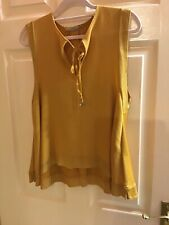 Mustard Sleevless Blouse By Zara Size 10 Size Small