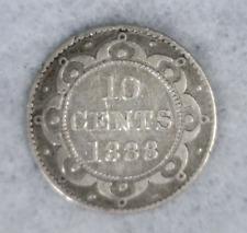 NEWFOUNDLAND 10 CENT 1888  CANADA (stock# 260) FREE SHIPPING USA