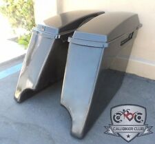 """4"""" Extended Stretched Saddlebags ABS Unpainted for 93-2013 Harley-Davidson"""