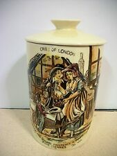 TEA CADDY Crown Devon Fielding Cries of London Jar Made in Staffordshire England