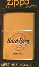 Hard Rock Cafe MONTREAL Gold ZIPPO Lighter NEW w/ Red Sticker w/Box STP HRC LOGO