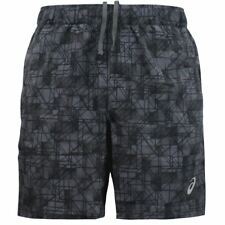 "ASICS 7"" Mens Black Woven Fitness Training Shorts Pants Bottoms XL"