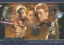 Star Wars  Attack of  the Clones  P1 PROMO CARD  THE SAGA CONTINUES BY TOPPS