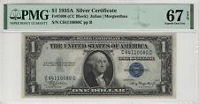 1935 A $1 SILVER CERTIFICATE NOTE FR.1608 CC BLOCK PMG SUPERB GEM UNC 67 EPQ