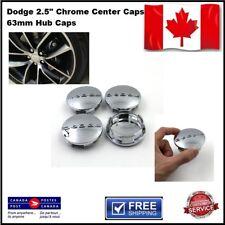 "(4x) Dodge 2.5"" Chrome Center Caps 63mm Hub Caps Fits: 17""-20"" Wheels 1SK35TRMAA"