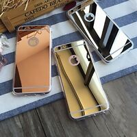 Ultra Thin  Anti Scratch Luxury Soft Mirror Metal Case For Apple iPhone Models